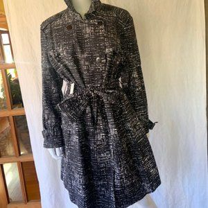 NWT Kenneth Cole Black Holiday Trench Coat